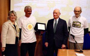 Da sinistra: Carmela Amato, Rosario Sicali, Guido Filosto e Giacomo Fisichella