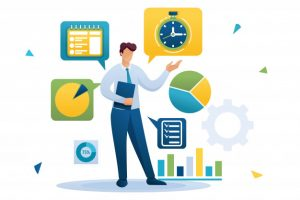 young-businessman-is-engaged-time-management-distribution-tasks-flat-character-concept-web-design_130740-670