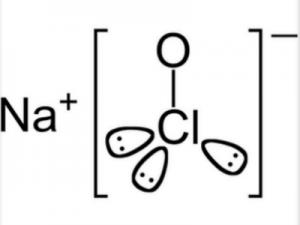 molecola ipoclorito di sodio