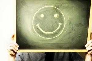 ottimismo.faccia.felice.lavagna